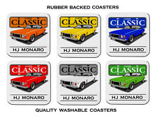 HOLDEN  HJ  308 V8   GTS  MONARO          SET OF  6   RUBBER DRINK  COASTERS