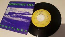 "Alternative Rock - Midnight Oil - Sometimes - 7"" VINYL VINILO PROMO RADIO"