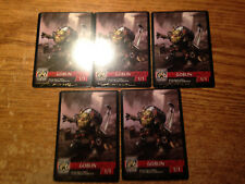 5X BRAINSTORM BREWERY 1/1 GOBLIN TOKENS SIGNED AARON MILLER/REAL PICS/WRONGWAY05