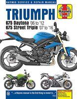 Triumph 675 Daytona Street Triple 2006-16 Haynes Manual 4876