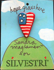 "Sandra Magsamen for Silvestri ""Hope Grows Here"" Heart Shaped Lapel Pin New 2001"