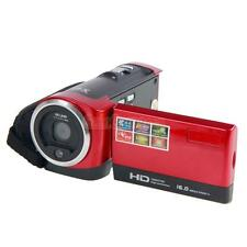 """HD 720P 16MP 16X Zoom Family Digital Video Camcorder Camera DV 2.7"""" TFT LCD Red"""