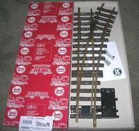 LGB 16050 G GAUGE RADIUS R3 22.5 RIGHT HAND ELECTRIC BRASS SWITCH TRACK NEW