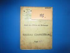 N°115 / RICHIER : rouleau compresseur type RT 8  : piéces de rechange