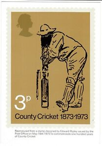 1973 COUNTY CRICKET PHQ CARD No 1 Mint Condition Unused