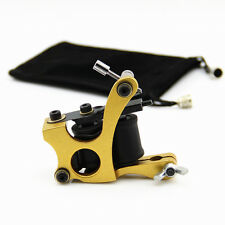 Alloy Coil Tattoo Machine Tattoo Gun 10 Wrap Copper Coils For Liner Shader Gold