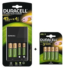 DURACELL 4 ore AA / AAA Battery Charger (include 6 x BATTERIE AA) CEF14