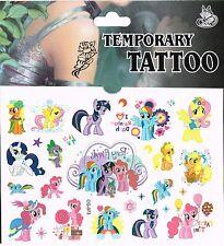 10 x tatuajes temporales, tatuajes de mi pequeño Pony Bolsa Fiesta Bolsa Tatuaje Pegatinas