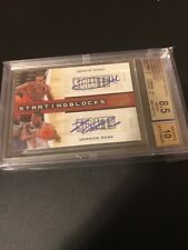 Derrick Rose Joakim Noah 2010-11 Contenders Auto Starting Blocks Gold /49 BGS