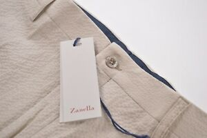 Zanella NWT Casual Pants / Chinos Size 36 In Light Tan Seersucker Cotton Noah