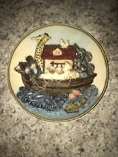 3-D Collector Plate Wall Hanger Plaque by Turtle King 8x8 Noah's Ark