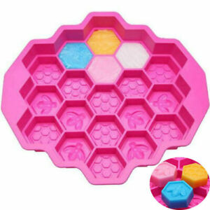 19 Cell Silicone Bee Honeycomb Cake Chocolate Soap Mold Candle Mould Bakewa.