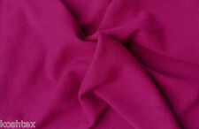 Hot Pink Wool Blend Jersey Knit Fabric by the Yard