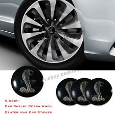 56.5mm Car Shelby Cobra Wheel Emblem Center Caps Hub Cover Hub Cap Badge Sticker