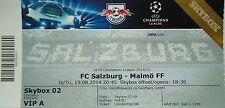 TICKET SKYBOX UEFA CL 2014/15 FC Salzburg-Malmö FF