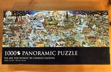 Charles Fazzino We Are The World 1000 Pc Panoramic Jigsaw Puzzle 100% Complete