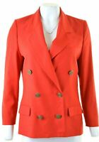 LES COPAINS Womens Double Brested Blazer Jacket IT 42 Medium Red Wool  HS19