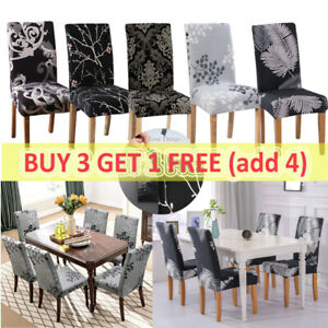 Dining Chair Covers Washable Stretch Chair Slipcover Removable Chair Protector