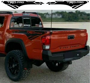 Toyota Tacoma TRD PRO 2013-2020 side bed Vinyl Decals graphics rally stickers