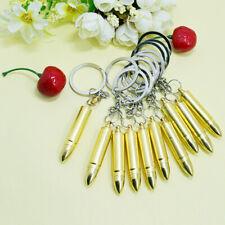 1x Gold Bullet Keychain Keyring  Hidden Spoon Scoop Compartment Secret Storage