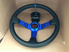 Steering Wheel Deep Dish Blue+ Pro Armor Quick Disconnect Hub Polaris RZR Can-Am