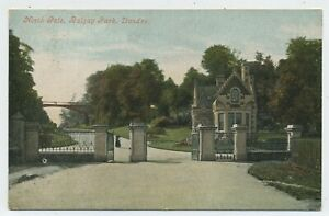 North Gate Balgay Park Dundee Vintage Postcard S22