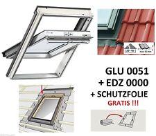 VELUX Dachfenster Kunststoff 66x140 +Eind. EDZ 0000 GLU FK08 besser als GGU 0059