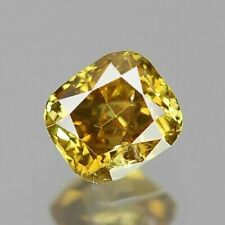0.10 Carat NATURAL Sparkly YELLOW DIAMOND LOOSE for Setting Cushion Cut