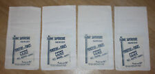 French Antique Flour Bags Unused Cotton Bag New Old Stock 11 1/2 x 6 1/4 (4pcs)