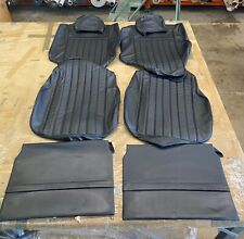 BMW E10 2002/ti/tii (1974 Style), Front Seat Covers, Black Leather
