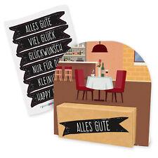 itenga Geldgeschenk Verpackung Restaurant Essen Gutschein Geschenk Anhänger