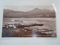 ARRAN, The Pier & Goatfell, Brodick RPPC Franked 1935 Ribbeck's Series  §B165