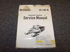 Yamaha VK540M Snowmobile Genuine Workshop Shop Service Repair Manual