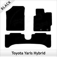 TOYOTA YARIS Mk3 Hybrid Facelift 2014 onwards Tailored Carpet Car Mats BLACK