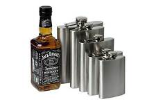 Stainless Steel Pocket Flagon Liquor Whiskey Alcohol 8 oz Flask Cap With Funnel