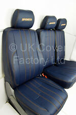 MERCEDES SPRINTER / VW CRAFTER Van Seat Covers   Blue Quilted  X121BU-OG