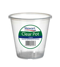 Clear Orchid Pot 13cm by Stewart Garden Products