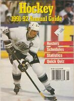 HOCKEY 1991- 1992 ANNUAL GUIDE,BOOKLET,ROSTERS ETC. WAYNE GRETZKY