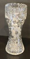 """Antique Crystal Vase 8"""""""