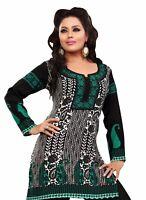 UK STOCK -  Women Casual Indian Short Kurti Tunic Kurta Top Shirt Dress 59D