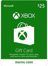 Xbox Live $25 card Microsoft-MS $25 usd haberes 360 Xbox Xbox One código Key