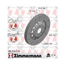 2x Disque de frein ZIMMERMANN (100.3367.70)