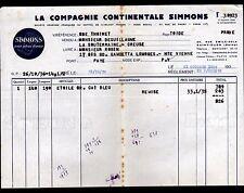 """SAINT-OUEN (93) USINE de MATELAS """"SIMMONS"""" en 1936"""