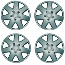 SET OF 4 X 13 INCH SILVER WHEEL COVER TRIM HUB CAP ALLOY LOOK 15""