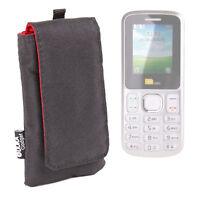 Jet Black Cushioned Case / Pouch For TTsims Dual Sim TT130 Mobile Phone