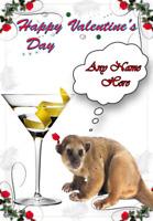 kinkajou tv159 Fun Cute valentines Day Card A5 Personalised Greetings