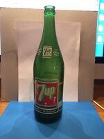 "RARE Vintage 1963 7-UP SODA BOTTLE 1 Pint 12 Fl Ozs (28oz) ""Fresh Up"""