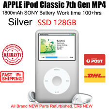 APPLE iPod Classic 7th Gen 128GB SSD MP4 1800mAh 100hrs New Battery WARRANTY
