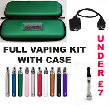 1100mAh E-Cigarette Starter Kit with eBacconist Zipper Case from UK Seller.