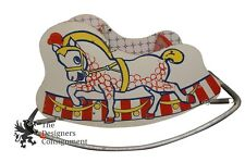 """Vintage Childrens Pony Sleigh Bouncy Rocking Horse Toddler Circus Chair 32"""" Rare"""